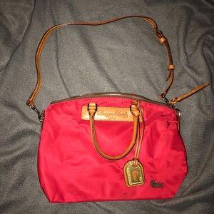 Vintage Dooney and Bourke Vachetta Red Nylon Bag